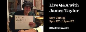 James Taylor Live Facebook Chat - May 28, 2015
