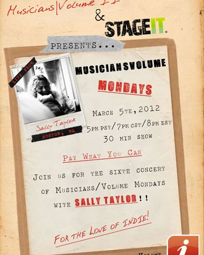 Sally Taylor Stageit Concert Flyer